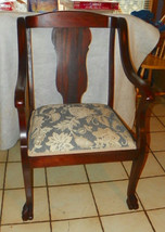 Mahogany Empire Armchair / Parlor Chair - $599.00