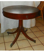 Mahogany Round Book Match Veneer Center Table /... - $499.00