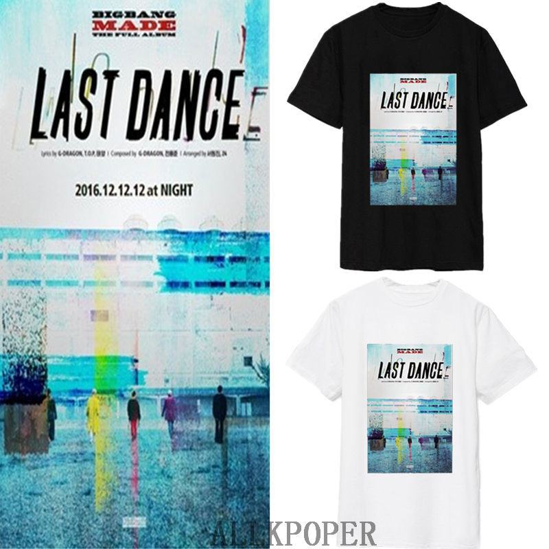 Used, Kpop Bigbang LAST DANCE T-shirt MADE THE FULL Tshirt GD G-Dragon Tee T.O.P for sale  USA