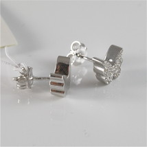 925 RHODIUM SILVER JACK&CO EARRINGS WITH BUTTERFLY CUBIC ZIRCONIA MADE IN ITALY image 3
