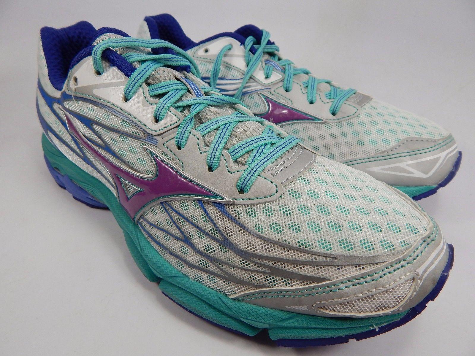 Mizuno Wave Catalyst Women's Running Shoes Size US 10 M (B) EU 41 White Green
