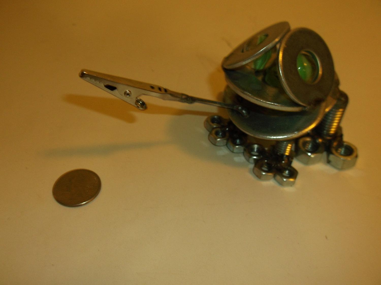 Frog Metal Sculpture, metal frog paperweight