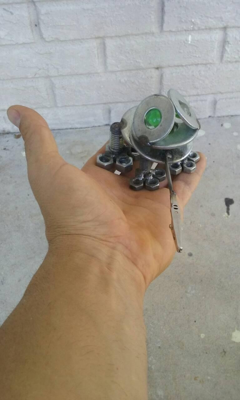 Frog Metal Sculpture, metal frog paperweight image 5