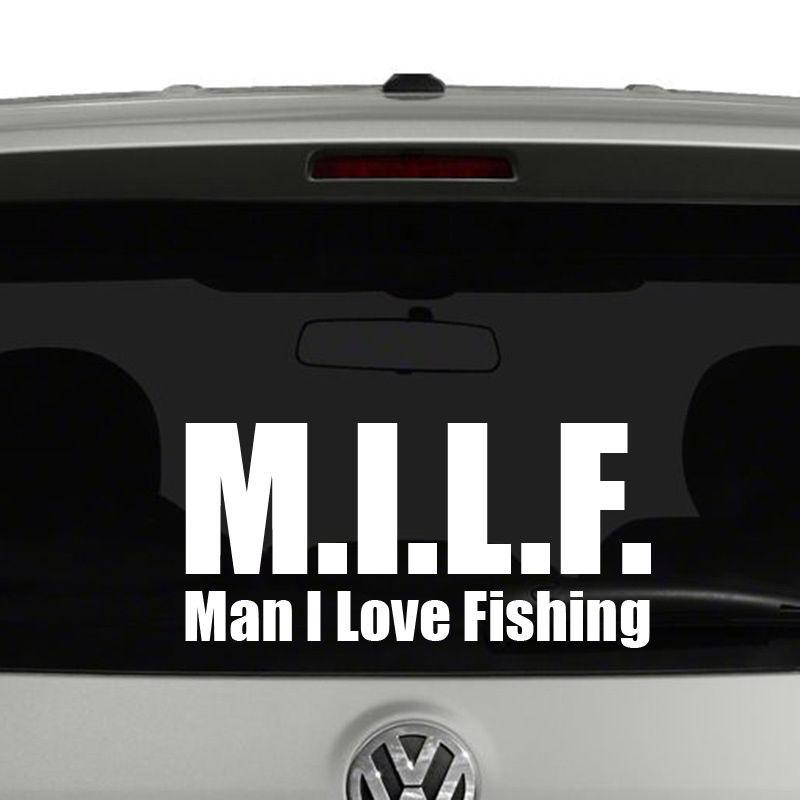 M i l f man i love fishing vinyl decal sticker decals for Man i love fishing