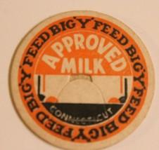 Vintage Milk Bottle Cap Big Y Feed Approved Milk Connecticut - $4.94