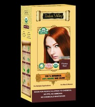 100% Botanical 100% Organic Flame Red Hair Colour USDA & Ecocert Certified - $15.43