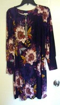 Woman's Long Sleeve Dress by Spense - Black with Floral Print - Size: S - $19.37
