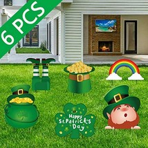 St. Patrick's Day Yard Sign Decorations Leprechaun Shamrock Irish Stakes - $24.70