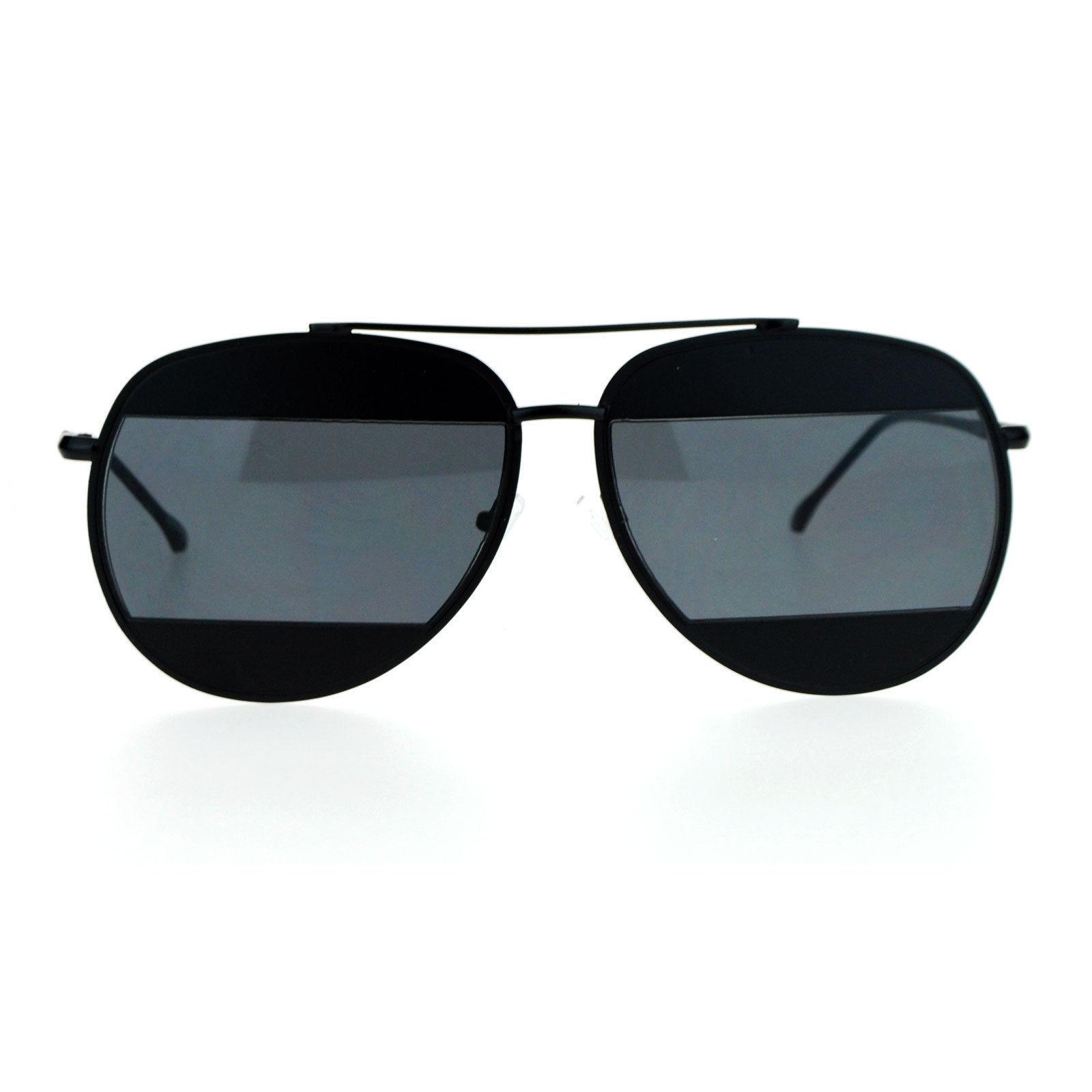 Unique Unisex Aviator Sunglasses Oversized Metal Block Frame Aviators