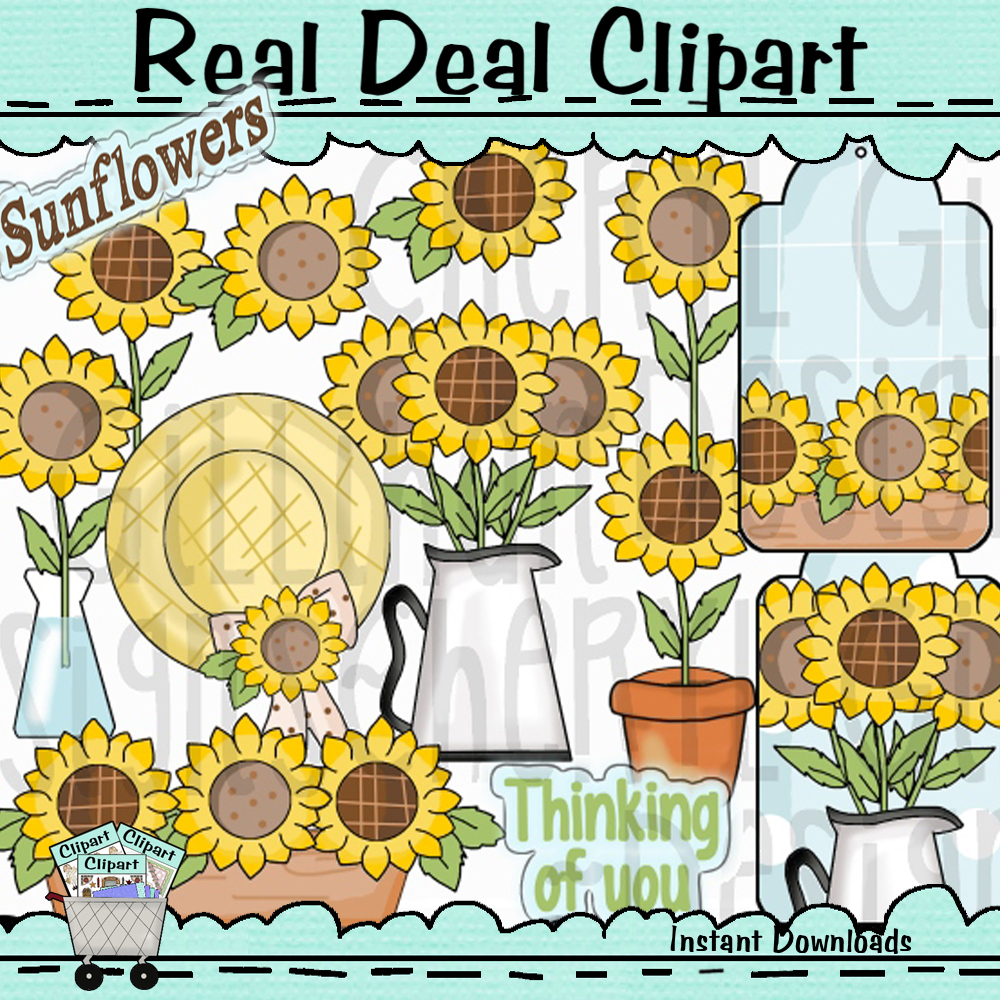 Sunflower Love Clipart