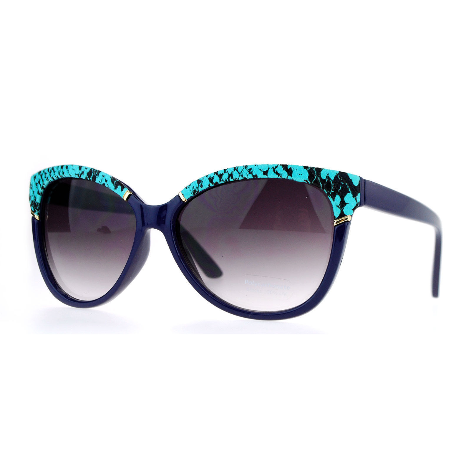 Womens Fashion Sunglasses Designer Square Cateye Reptile Top UV400
