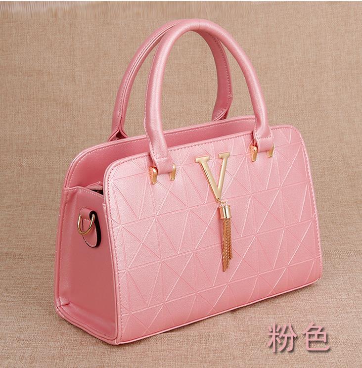 Mixed Color Women Leather Shoulder Bags,Large Handbags,Purse L300-5