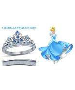 925 Sterling Silver Round Multi-Stone Cinderella Princess Crown Engageme... - $65.99