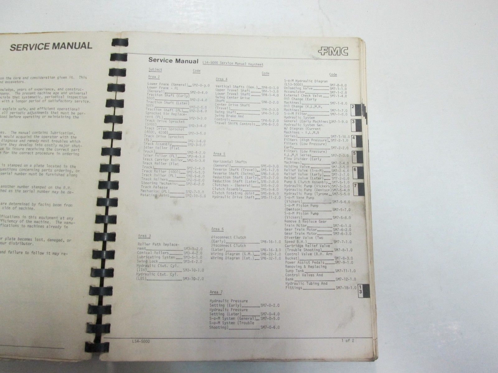FMC LS4-5000 LS-5000 Hydraulic Excavators Service Repair Manual STAINED FACTORY