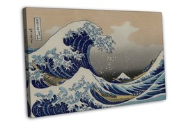 THE GREAT WAVE OFF KANAGAWA ART IMAGE 16x12 FRAMED CANVAS Print - $29.95