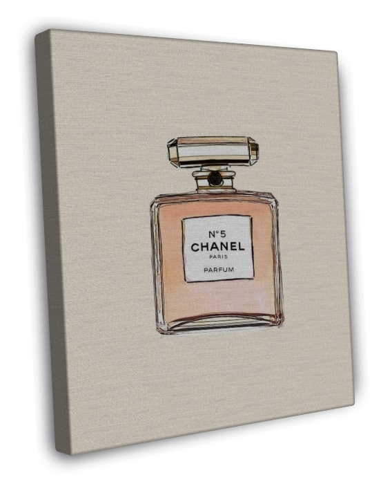 CHANEL NO5 PERFUME IMAGE 16x12 FRAMED CANVAS Print