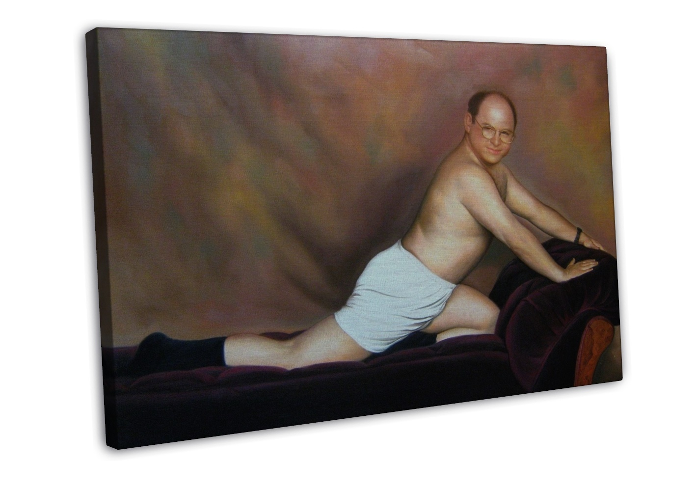 "SEINFELD GEORGE ""THE TIMELESS ART OF SEDUCTION"" 16x12 FRAMED CANVAS Print"
