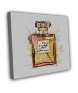 CHANEL NO5 PERFUME WATERCOLOUR ART IMAGE 16x12 FRAMED CANVAS Print - $29.95