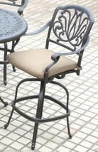 Patio 5 piece set outdoor Furniture Cast Aluminum bar height Elisabeth Bronze image 4