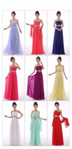 Sexy A-line Crystal Chiffon Formal Elegant Long Evening Dresses - $129.99