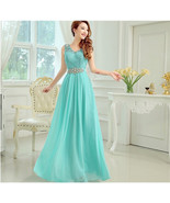bridesmaid Long Lace Crystal Formal Party Evening dress - $139.99