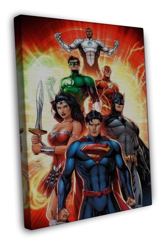 Justice league comic movie superman batman wonder woman for Room decor justice