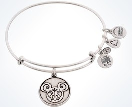 Disney Parks Mickey Filigree Charm Bracelet Bangle Alex & Ani Silver New... - $51.29