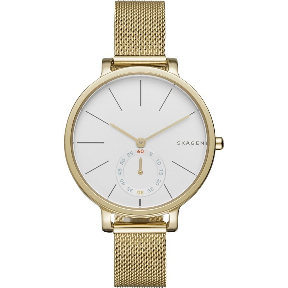 Primary image for NEW SKAGEN WATCH for Women * Hagen Gold Steel Mesh Bracelet * SKW2436 MSRP $185