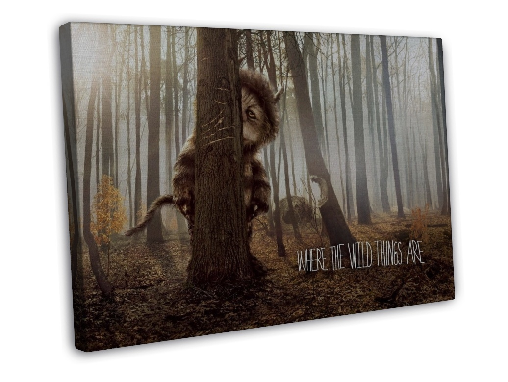 where the wild things are movie wall decor 16x12 framed canvas print. Black Bedroom Furniture Sets. Home Design Ideas