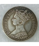 1 PCS, One florin 1870 Great Britain England United Kingdom 1 gothic sil... - $10.34
