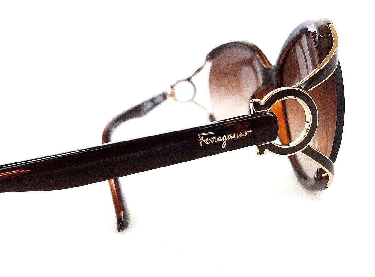 Salvatore Ferragamo Women's Sunglasses SF600S Brown 61-14-130 MADE IN ITALY - Ne