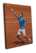 Rafael Nadal Tennis star Art 16x12 FRAMED CANVAS Print Decor - $29.95