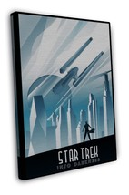 Star Trek Into Darkness Movie Art 16x12 FRAMED CANVAS Print Decor - $29.95