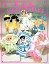 CROCHET SMALL DOLL CLOTHES *DELECTABLE COLLECTABLES FIBRE CRAFT PATTERNS... - $8.97
