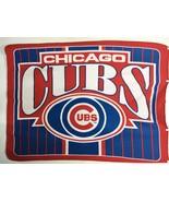 """Chicago Cubs Cubbies Baseball Red Blue Fleece Blanket 45 x 56"""" Lightweight - $26.31"""