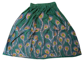 Green Sequin Work Handmade Women's Skirt,Indian Belly Dance Skirt,Banja... - $35.00