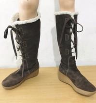 Michael Kors Womens 9 Brown Suede Fleece-Lined ... - $67.13
