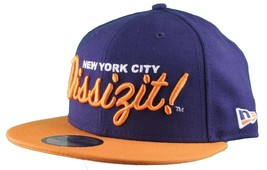 Dissizit New Era Fitted 59Fifty NY Hat Navy Orange new York City
