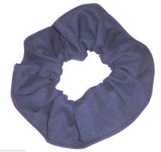 Navy Blue Cotton Fabric Hair Scrunchie Scrunchies by Sherry Handmade USA   - $6.99
