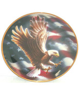 American Eagle Collector Plate Bird Flag Frankl... - $49.95