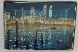 New York World Trade Center Twin Towers Unforgettable Collector Plate Br... - $59.95