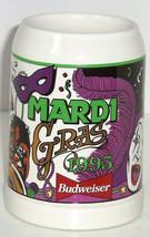 Budweiser Beer Stein 1993 Mardi Gras Anheuser Busch Vintage 1993 Limited Edition - $59.95