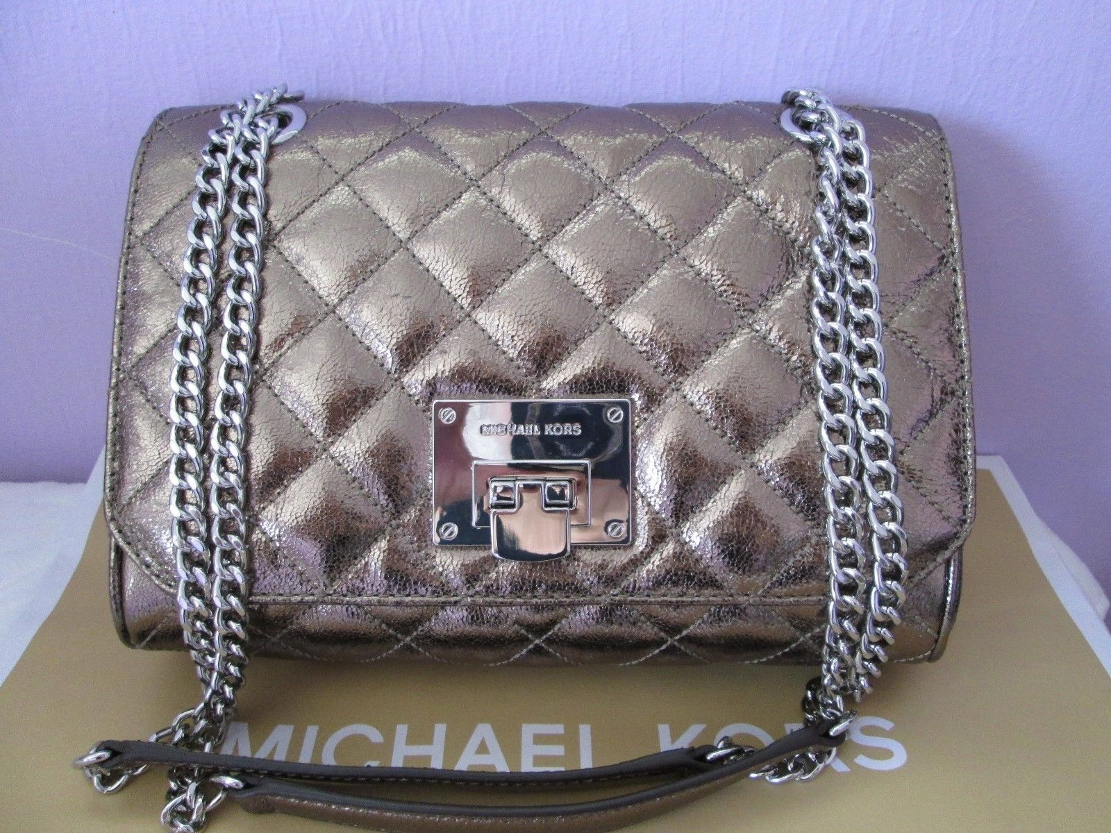 3dccbc9a3fd288 NWT Michael Kors Vivianne Flap Leather and 50 similar items. 32