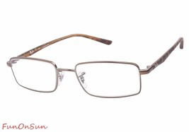 Ray Ban Eyeglasses RB6236 2690 Havana Brown Rectangle Frame 50mm Authentic - $77.59