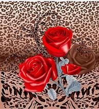 HEAVY New Queen Size 3D Luxury WILD RED ROSE Flower Faux Mink Blanket 79... - $69.95