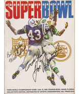 SUPER BOWL III Program - Signed on cover by Joe Namath and Weeb Ewbank - $450.45