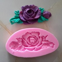 Fondant Cake Decorating DIY Baking Tool 3D Rose Flower Cake Mold Craft M... - €3,49 EUR