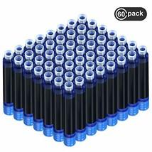 60 Pieces Fountain Pen Ink Pen Ink Cartridges Fountain Pen Refill Short ... - $13.25