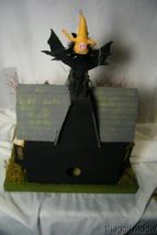 Bethany Lowe Haunted House & 2 Vintage Spun Cotton  Figurines!  light included image 7