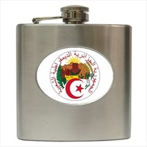 Coat Of Arms Of Algeria Hip Flask (Classic Stainless Steel) - Heraldic Tabard - $14.35
